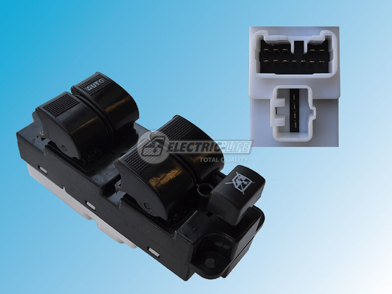MAZDA MPV LW 99>06 DRIVER SIDE FRONT WINDOW SWITCH (OE# LD80-66350A, L120-66350, LC6666350A)